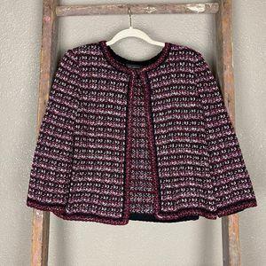 St John Tweed Jacket Sweater Cardigan NWOT 8